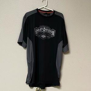 Harley-Davidson XL Men's Dry Fit Tee Black/Gray